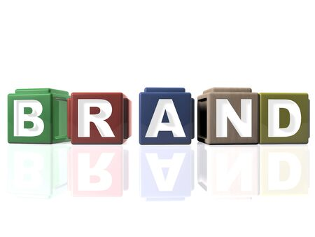 Building blocks - BRAND Stock Photo