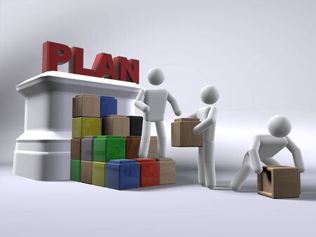 Building a plan Stock Photo