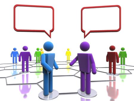 Business conversation (with emphasis on diversity) Stock Photo
