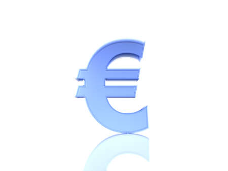 The Euro sign in blue