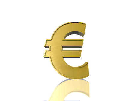 The Euro sign  in gold