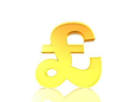 The Pound sign £ in yellow