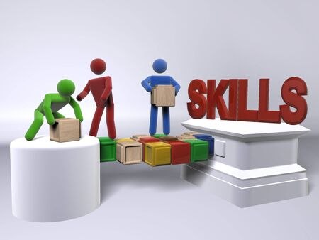 competencias laborales: Un equipo de colaborar para construir habilidades