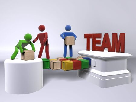 Team building exercise Stock Photo - 8107862