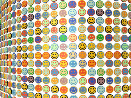 A wall of smiling faces