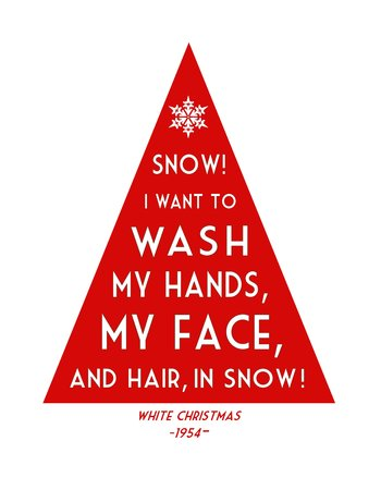 Christmas Tree Quote Print from the Movie White Christmas