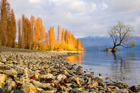 ニュージーランドのワナカ湖の日の出