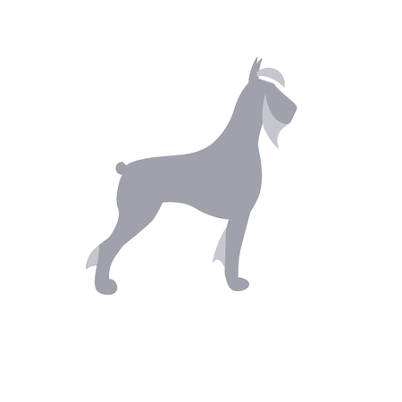 Giant Schnauzer dog vector isolated illustration sign