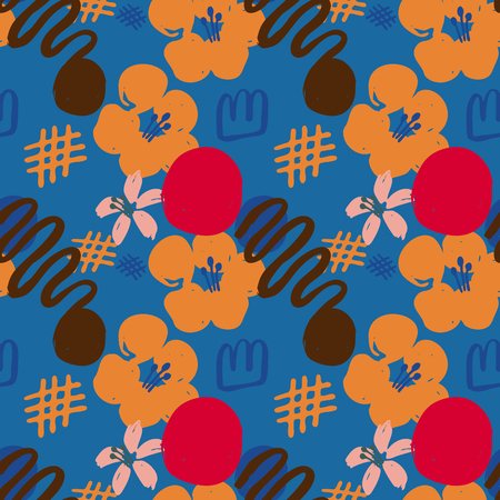 Abstract Colorful Floral Pattern