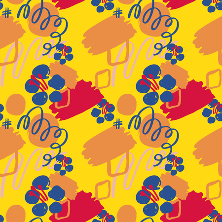 Colorful abstract floral pattern