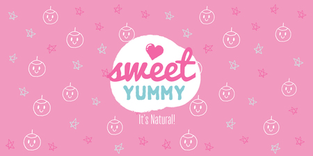 Vector Pink Pattern Design, Sweet Yummy, Cute Covers Collection, Graphic Design Background, Vector Illustration, Artistic Concept, Young Trendy Fashion Style, Female Fashion Ilustrace