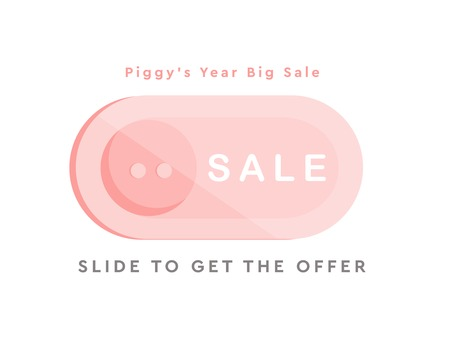 Pig's Year Web Illustration, Web Design, Button, Sale Banner, 2019 New Year Celebration, Chinese New Year Vector, Happy New Year Event Vector, 2019 Cute Illustration Ilustrace