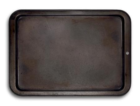 Lege bakplaat geïsoleerd voor eenvoudig gebruik in lay-outs