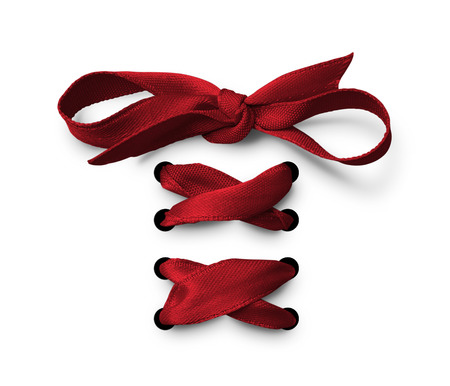 lace: Red Shoe lace ribbon