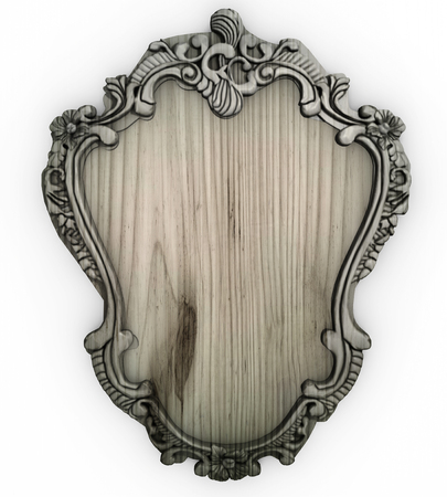 white backing: Isolated white wooden Ornate Frame with backing board