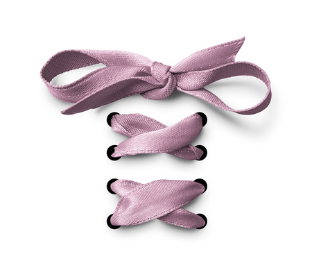 Pink Shoe lace ribbon