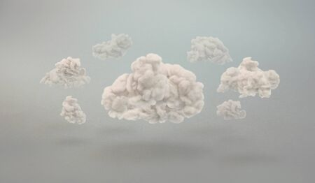 gray matter: swirling clouds on a generic background Stock Photo