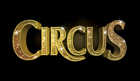 Glitter Circus Sign Stock fotó - 44233950