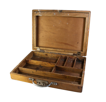 compartments: Wooden Box with different Sections and compartments