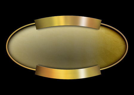 oxidized: Golden oval banner