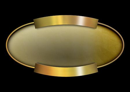 edel: Golden oval banner