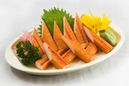 Crab stick Nigiri Sushi photo