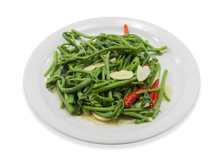chayote: Fried Chayote vegetable, Thai food style