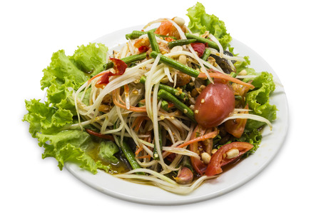 slatternly: Green papaya salad thai food