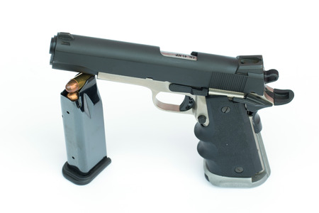 45 gun:  45 rock island armory gun isolate on white background