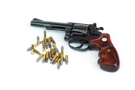 magnum:  22LR classic gun isolate on white background