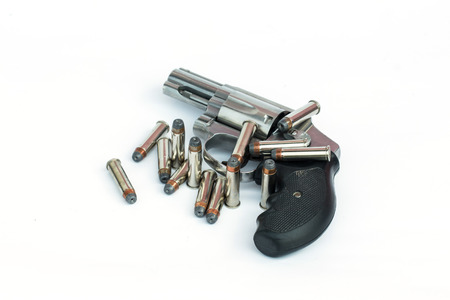 smith:  357 smith and wesson gun isolate on white background