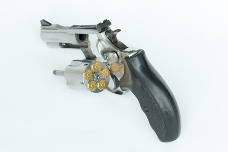 38:  38 smith and wesson gun isolate on white background