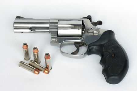38 smith and wesson gun isolate on white background photo