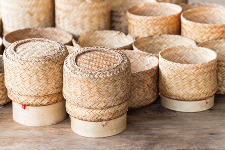 isaan: KRATIP, thai laos bamboo sticky rice container, this is the classic rice container for thai people in the northeast of Thailand.