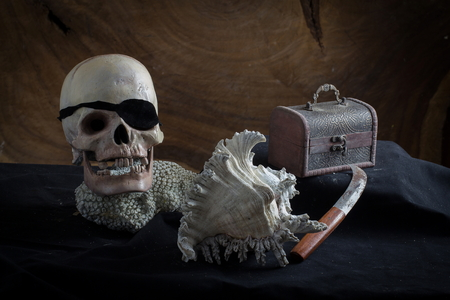 treasure trove: Still life of pirates and treasure Stock Photo