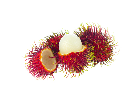 rambutan isolated on the white background 写真素材