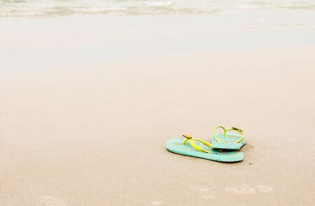 summer shoes on beach