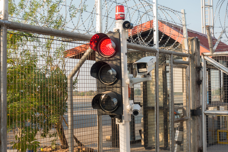 surveillance protection camera and traffic light