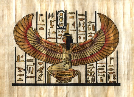 egypt anubis: Egyptian parchment. texture Stock Photo