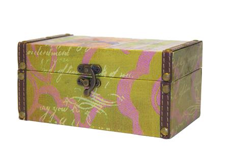 costume jewelry: old jewelry box and costume jewelery Stock Photo