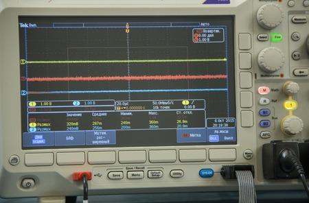 oscilloscope: precision scientific instrument, oscilloscope display and keys