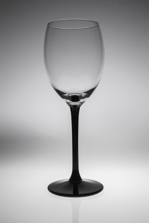 glass of wine: Empty wine glass. isolated on a white background