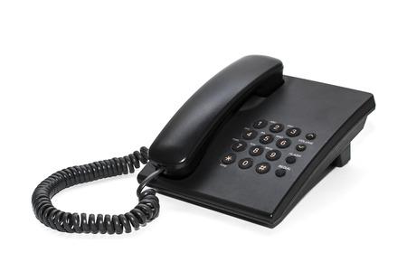 function key: Black office IP Phone isolated on white background Stock Photo