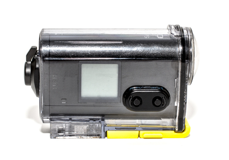 waterproof: action camera, waterproof white background