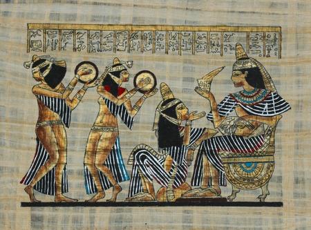 egypt anubis: ancient Egyptian parchment