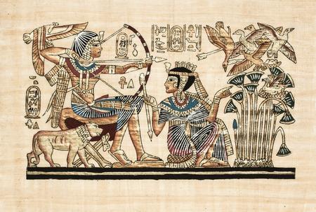 oude Egyptische perkament Stockfoto