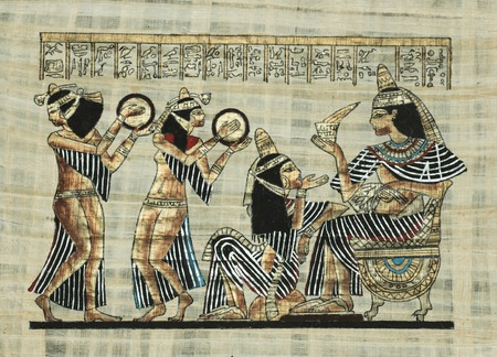 scribes: ancient Egyptian parchment