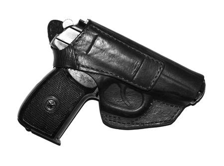 disassembled: makarov system pistol disassembled isolated on white background