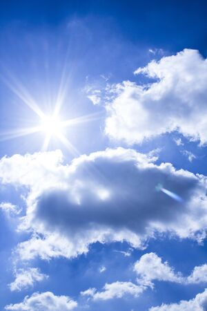 stunningly: stunningly beautiful sky with white clouds and bright spring sunshine