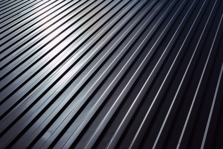 corrugated iron: Metal sheet for industrial building and construction